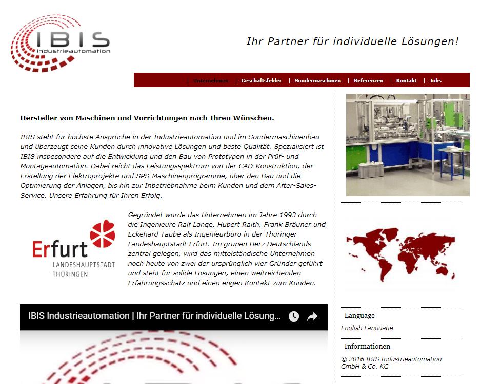 IBIS Industrieautomation und Sondermaschinen GbR