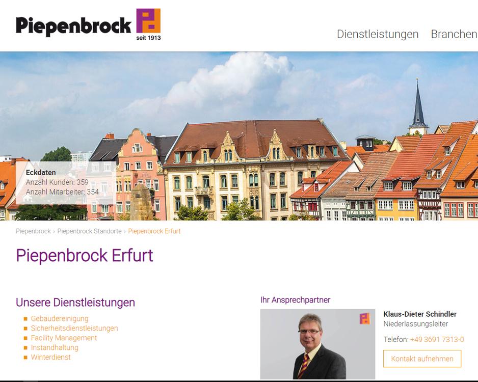 Piepenbrock Dienstleistungen GmbH & Co. KG, Niederlassung Erfurt